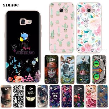 YIMAOC Alice in Wonderland Cat Silicone Case for Samsung Galaxy S7 S8 S9 Edge Plus J3 J5 J7 A5 A6 A8 Note 8 9