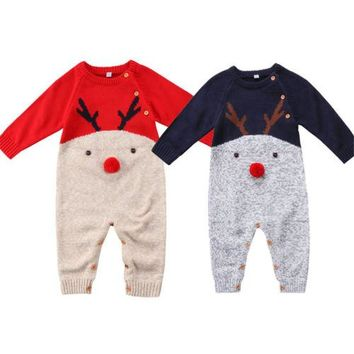 Newborn Kid Baby Boy Girl Clothing Romper Long Sleeve Cute Animals Cotton Jumpsuit Outfits Clothes Baby Boys