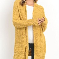 Mustard Yellow Knit Cardigan