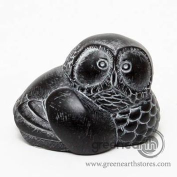"Green Earth Stores | 00200183012 - Stonecraft - Owl - Small 1.5 x 2 x 1.5""h"