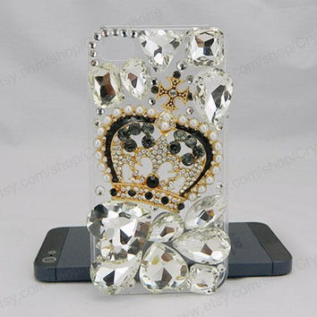 Crystal crown  iPhone case,bling iphone 6 case,Crystal iphone 6 Plus,Rhinestone iphone 5/5S/5c,iphone 4 case samsung galaxy S3/S4/S5