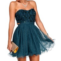 Sale-oriana-teal Homecoming Dress