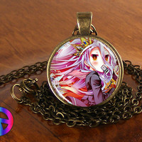 Anime No Game No Life Shiro 1 Cosplay Necklace Pendant Jewelry Gift Men Women