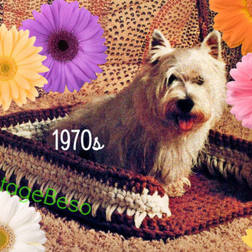 Pet Bed CROCHET Pattern Vintage Quick and Easy Fasionable Pet Bed Crochet PATTERN indoor outdoor JuTE small dog bed Instant PDF Pattern