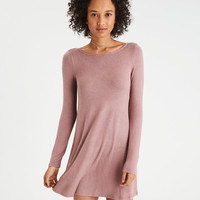 AE Weave Back Shift Dress, Blush