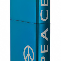 Zippo Peace on the Side Sapphire Lighter