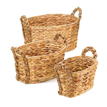 Storage Wicker Baskets, Small Medium And Large Storage Baskets Bins
