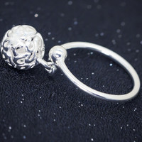 Personalized hollow sphere  925 sterling silver ring, a perfect gift !