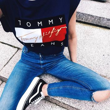 Tommy Hilfiger Jeans Cropped Top Tee