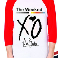 XO The Weeknd Baseball T shirt for mens