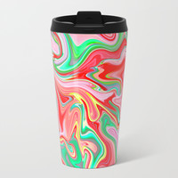Summer Abstract2 Metal Travel Mug by LEMAT WORKS