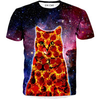 Pepperoni Space Cat T-Shirt