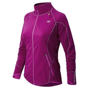 new balance windblocker fleece lined running jacket women s size
