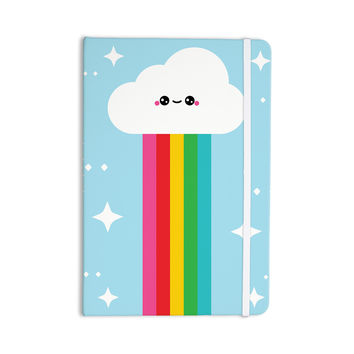 "KESS Original ""Mr. Rainbow"" Multicolor Kids Everything Notebook"