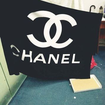 VXL8HQ CHANEL Warm Flannel Conditioning Throw Blanket Quilt For Bedroom Living Rooms Sofa