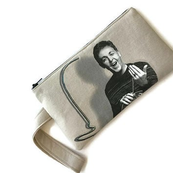 Paul McCartney Bag Upcycled T-shirt Purse Clutch Wristlet