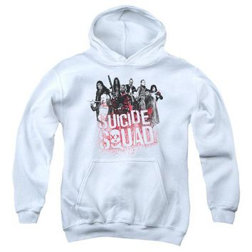 ac spbest Suicide Squad - Squad Splatter Youth Pull Over Hoodie
