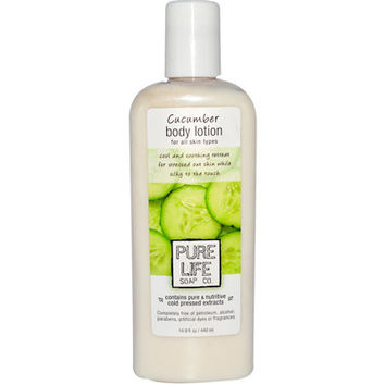 Pure Life Body Lotion Cucumber - 14.9 fl oz - Pack Of 1