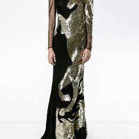 Alexander Mcqueen Sequinned Unicorn Tulle Gown - Browns - Farfetch.com