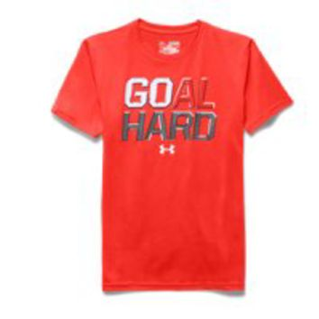 Under Armour Boys' UA Soccer Goal Hard T-Shirt