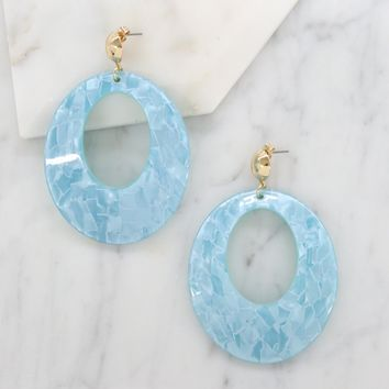 Catch the Wave Earrings in Aqua and Gold