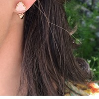 Brindley Rose Gold Ear Jackets in Iridescent Drusy - Kendra Scott Jewelry