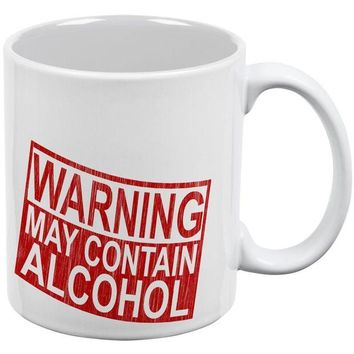 DCCKU3R Warning May Contain Alcohol All Over Coffee Mug