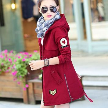 ac DCK83Q Windbreaker Winter Korean Slim Hats Women's Fashion Training Cotton Jacket [9126646348]
