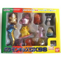 Pokemon 1997 Bandai Pokemon Kids DX Vulpix Mewtwo Surfing Pikachu Gyarados Clear Version Set of 11 Figures