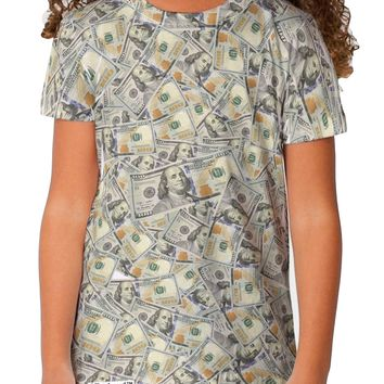 Benjamins Childrens T-Shirt Dual Sided All Over Print by TooLoud
