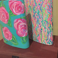 Lilly Pulitzer inspired metal flask