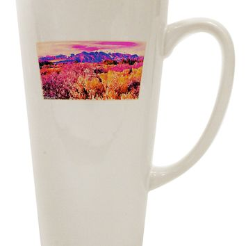 Colorful Colorado Mountains 16 Ounce Conical Latte Coffee Mug by TooLoud
