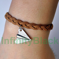 One Direction Harry Style Paper Airplane Pendant by InfinityBlack