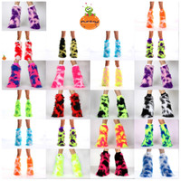 COW PRINT READY MADE FUZZY LEGWARMERS GOGO DANCER CLUBWEAR RAVE