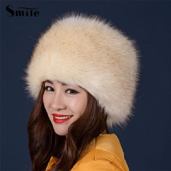 Women Winter Warm Artificial Fake Mink Fur Hat Beanie Cap Woman Windproof Furry Soft Wool Fur Beanies Caps Hats Skullies Beanies