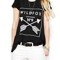 T-shirt With Arrows Print in Black
