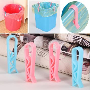 S-home 2Pcs Trash Bag Fixed Clip Waste Basket Rubbish Bin Garbage Can Clamp Holder New MAR23
