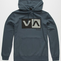 Rvca Balance Box Mens Hoodie Midnight Blue  In Sizes