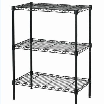 New Wire Shelving Cart Unit 3 Shelves Shelf Rack Shelves T53 Layer Tier