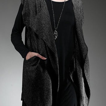 Turn-Down Neck Short Sleeve Pure Color Loose-Fitting Cardigan