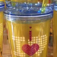 Universal Studios I Love Minions Tumbler with Straw New