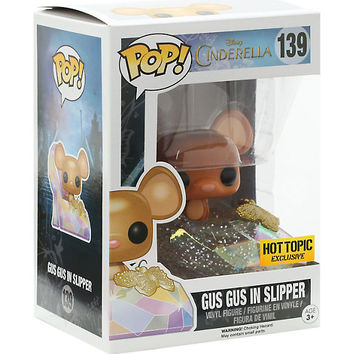 Funko Disney Cinderella Pop! Gus Gus In Slipper Vinyl Figure Hot Topic Exclusive
