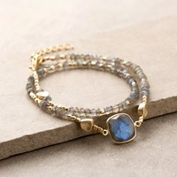 Wrapped In Love Labradorite Bracelet