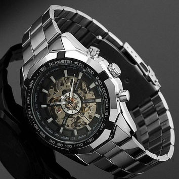 Mens Steel Automatic Mechanical Watch Best Gift