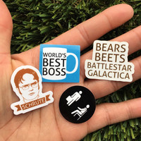 The Office TV Show Stickers - Dwight Schrute, Dunder Mifflin, Michael Scott, Vinyl Stickers, The Office Stickers