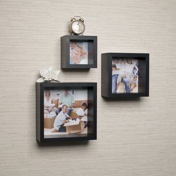 Photo Frame Wall Cube Shelf Set(Set of 3) by Danya B