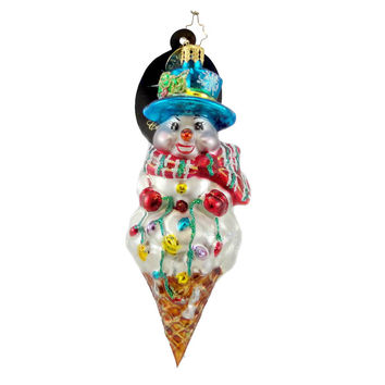 Christopher Radko Ice Cream Jones Glass Ornament