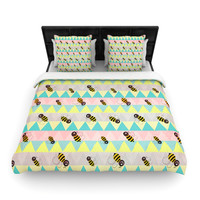 "Louise Machado ""Little Bee"" Pastel Chevron Lightweight Duvet Cover"