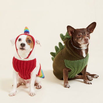 Kooky Pooch Dog Sweater in Unicorn | Mod Retro Vintage Pet Accessories | ModCloth.com