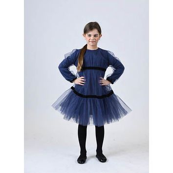To-La-Roo Navy Tiered Tulle Dress